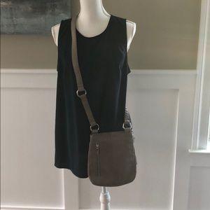 Grey/taupe crossbody HOBO bag